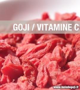 La teneur en vitamine C du goji